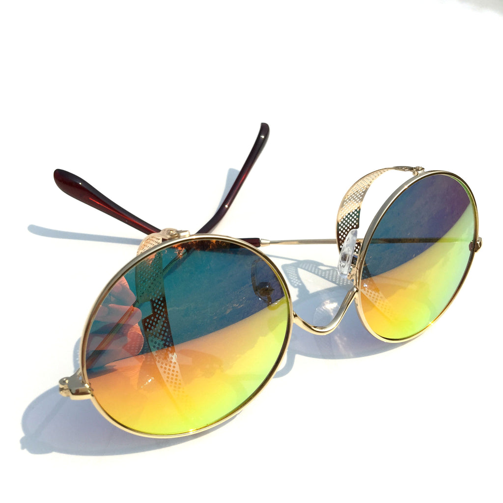 Orange Golden Steampunk Punk Sunglasses Shades Goggle - WowAwesomeStuff  - 5