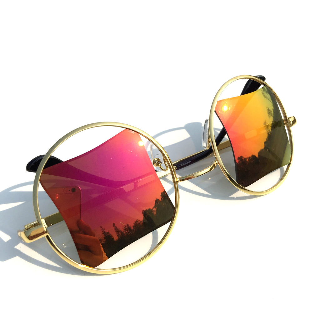 Unique Orange Quadrangular Handmade Sunglasses Shades Goggle - WowAwesomeStuff  - 5