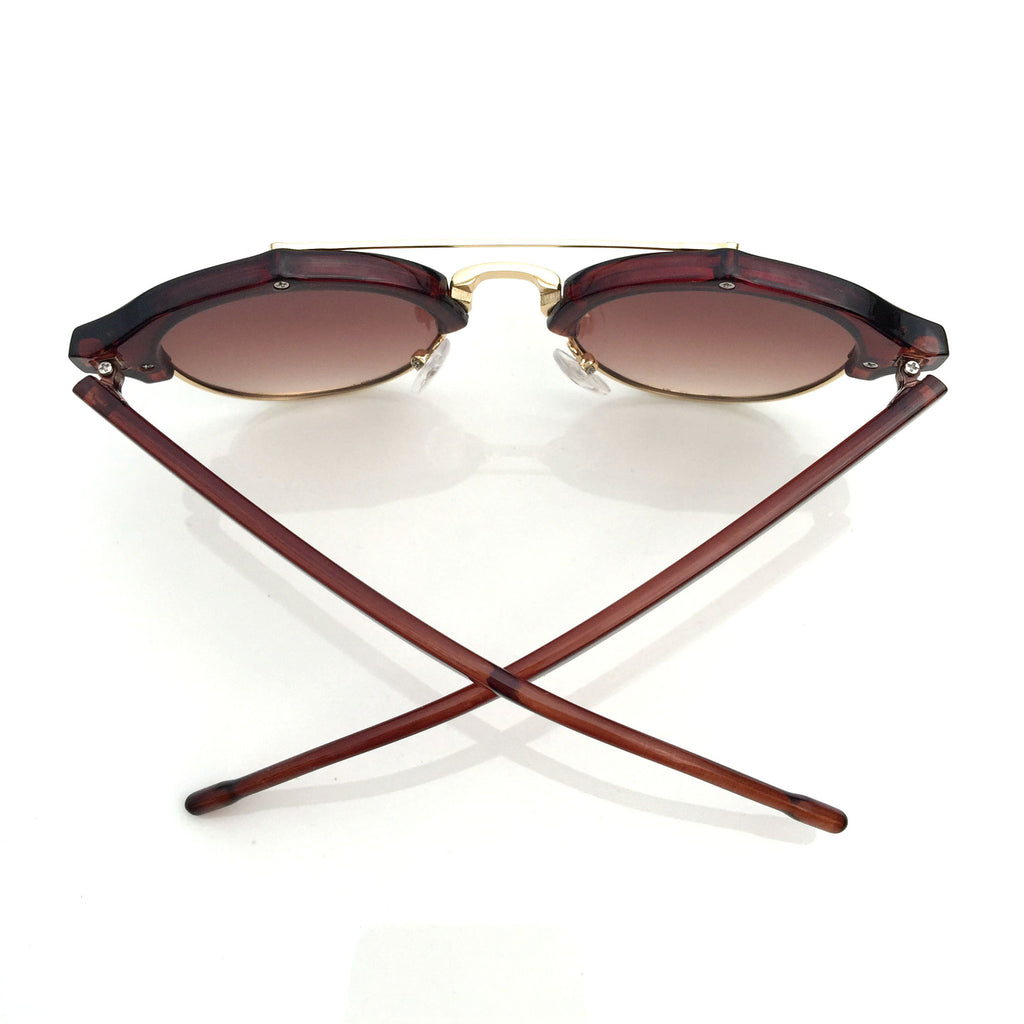 Brown Ladies Cat Eye Vintage Retro Sunglasses Sun Glasses Goggles for Women - WowAwesomeStuff  - 3