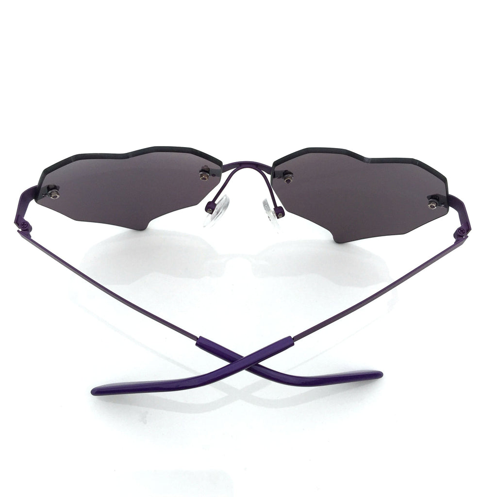Purple Heart Shape Burning Man Unique Sunglasses Shades Sunnies - WowAwesomeStuff  - 3