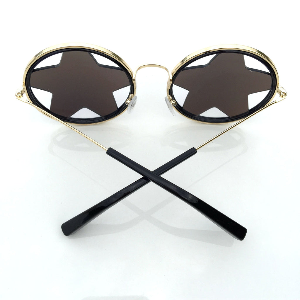 1 WowAwesome Unique Design Blue Stars Retro Punk Sunglasses Shades Sunnies Goggles - WowAwesomeStuff  - 4
