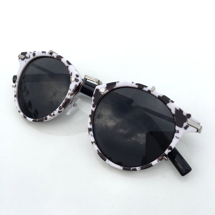 2015 Brand New Black and White Steampunk Women Men Pilot Sunglasses Shades Sunnies - WowAwesomeStuff  - 1