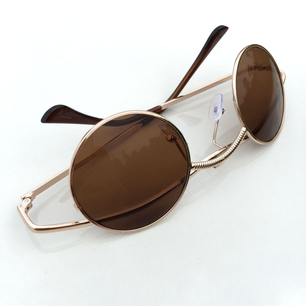 Brown Folded Steampunk Burning Man Punk Mens Womens Sunglasses Shades Sunnies - WowAwesomeStuff  - 4