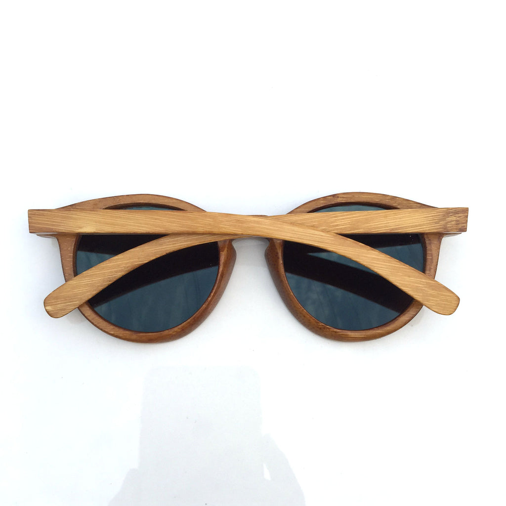 Unique Blue Cat Eye Handmade Bamboo Sunglasses Shades Sunnies Goggles - WowAwesomeStuff  - 4