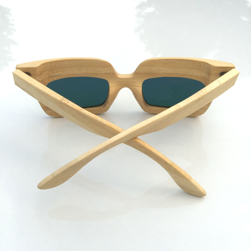 Orange Unique Wood Handmade Sunglasses Shades Sunnies - WowAwesomeStuff  - 4