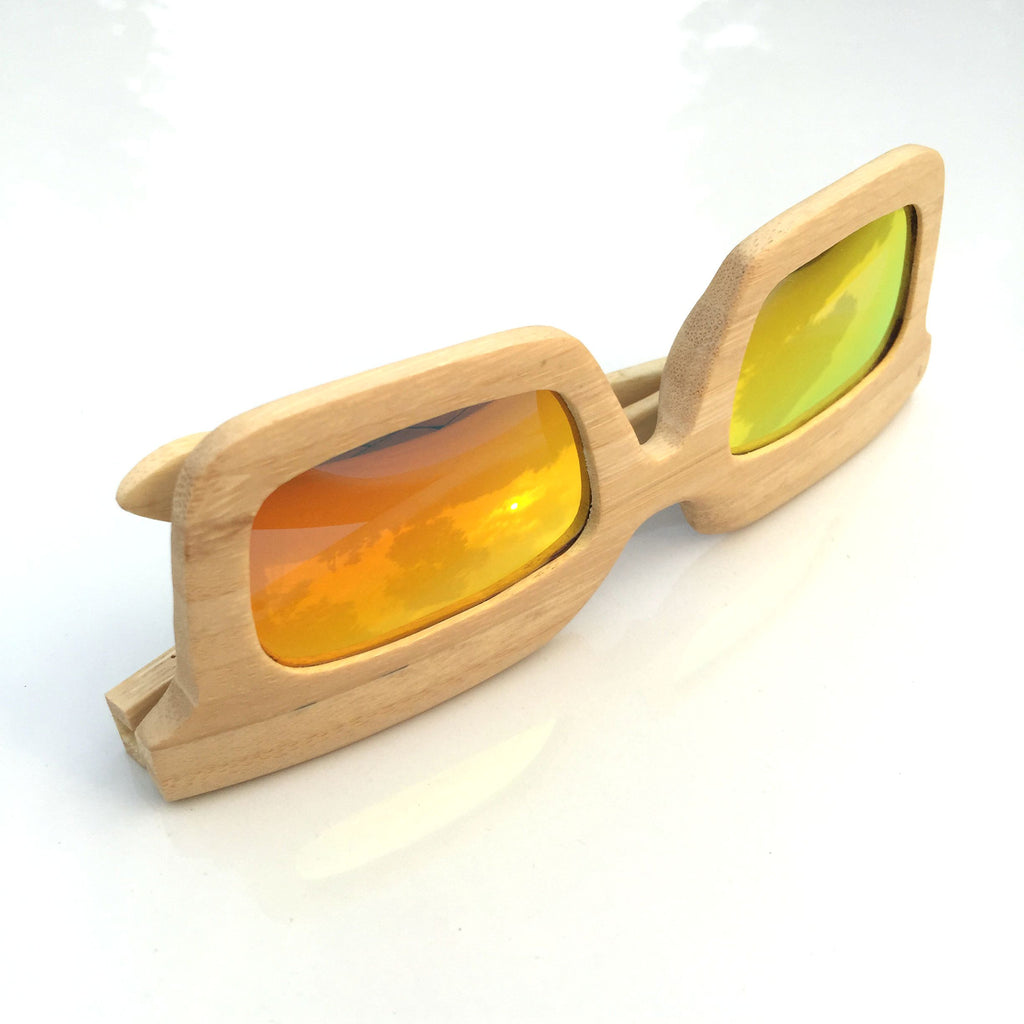 Orange Unique Wood Handmade Sunglasses Shades Sunnies - WowAwesomeStuff  - 5