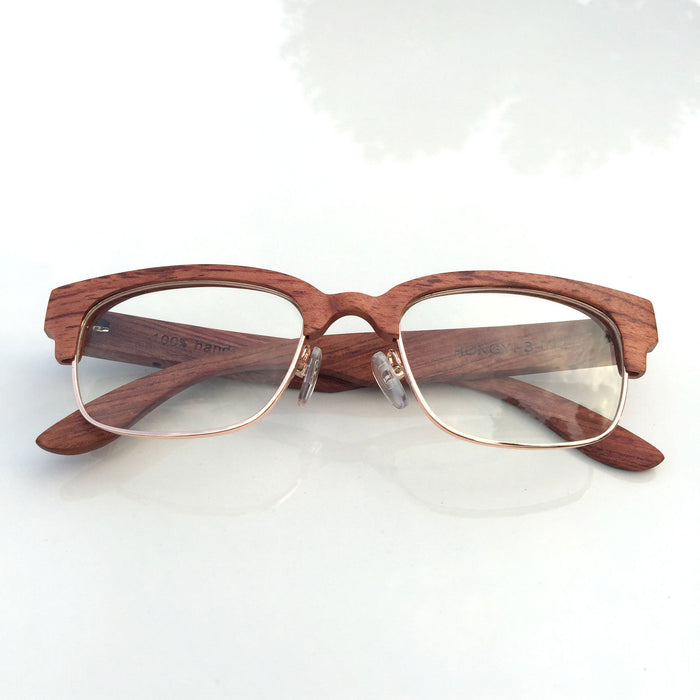 Brown Semi-Rimless Myopia Reading Eyeglasses with Myopic Lens - WowAwesomeStuff  - 1