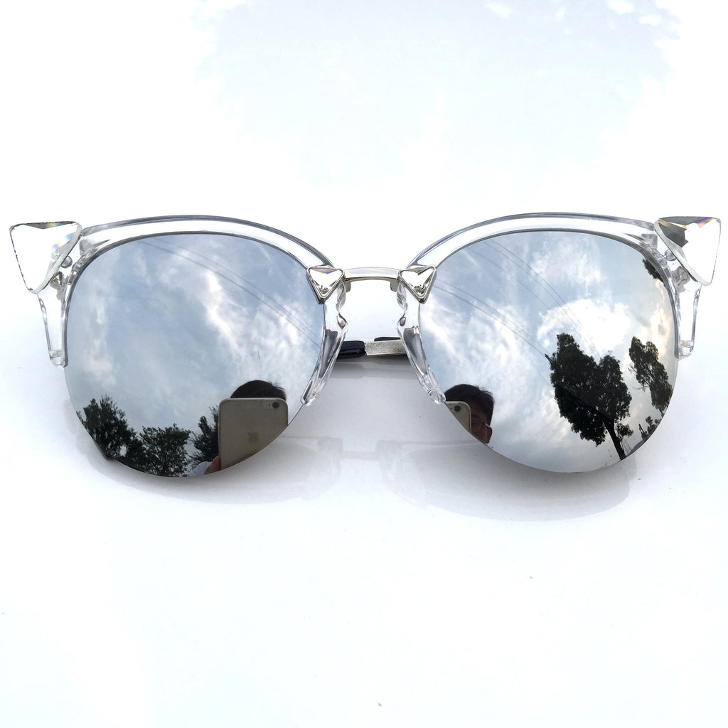 Burning Man Mirror Silver Steampunk Unique Sunglasses Shades Sunnies for Men Women - WowAwesomeStuff  - 2