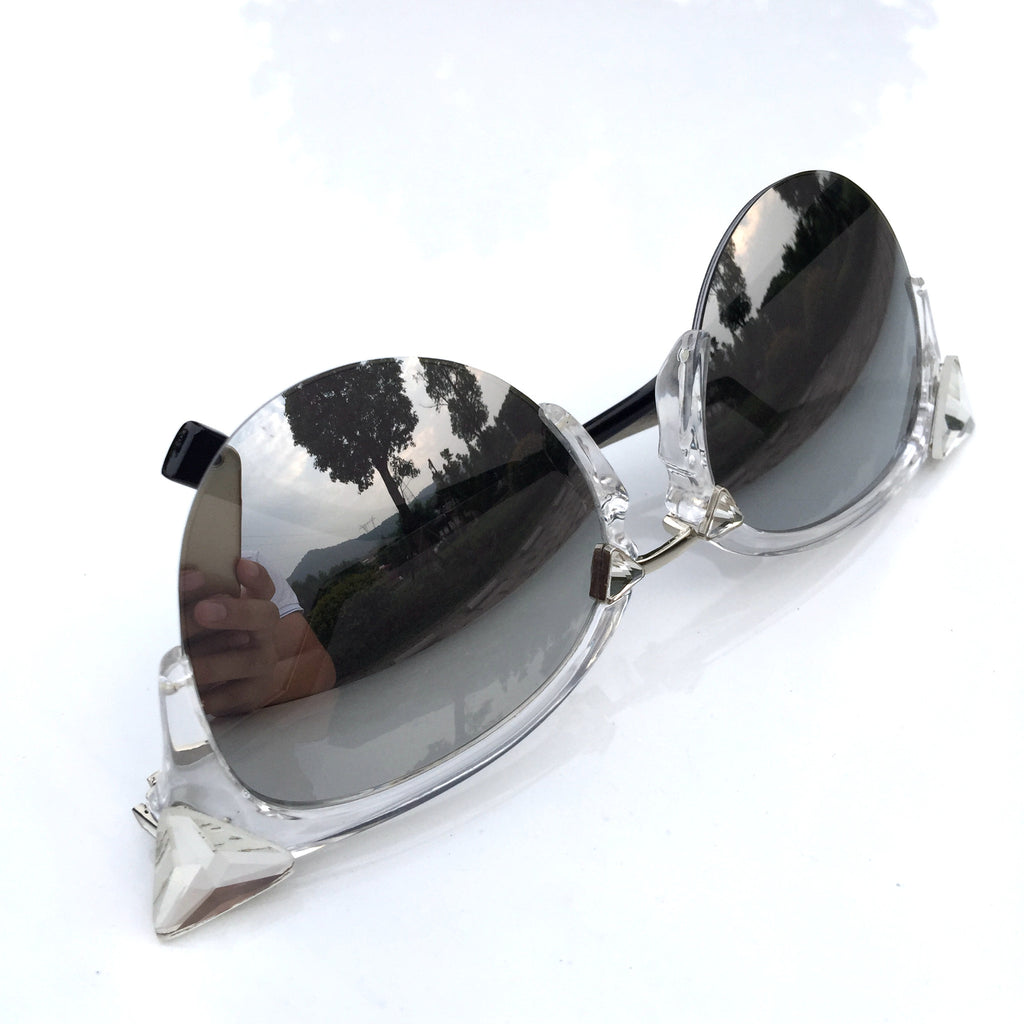 Burning Man Mirror Silver Steampunk Unique Sunglasses Shades Sunnies for Men Women - WowAwesomeStuff  - 3