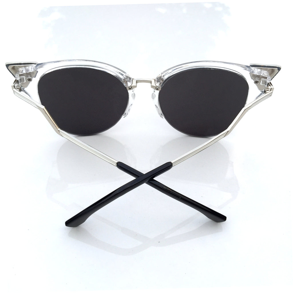 Burning Man Mirror Silver Steampunk Unique Sunglasses Shades Sunnies for Men Women - WowAwesomeStuff  - 4