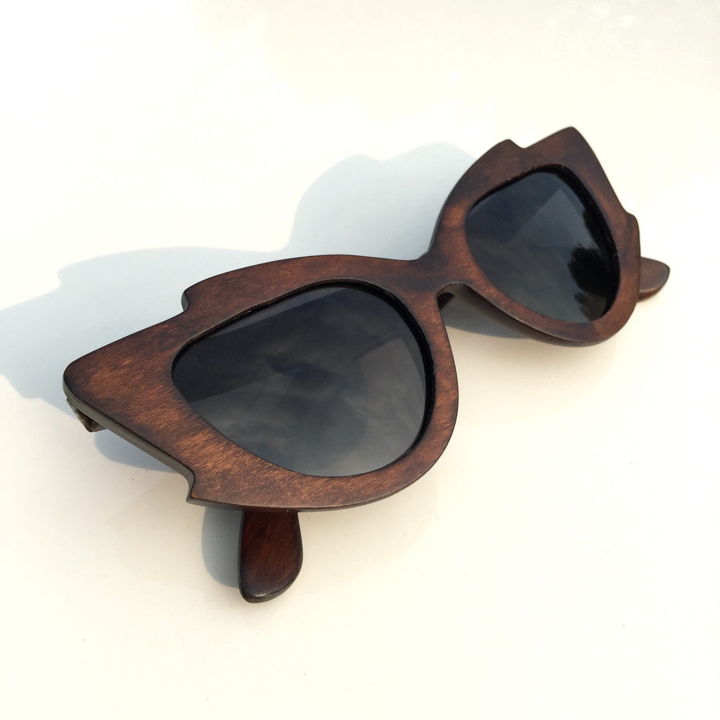 Very Unique Cat Eyes Fashion Wood Sunglasses Shades Sun Glasses - WowAwesomeStuff  - 2