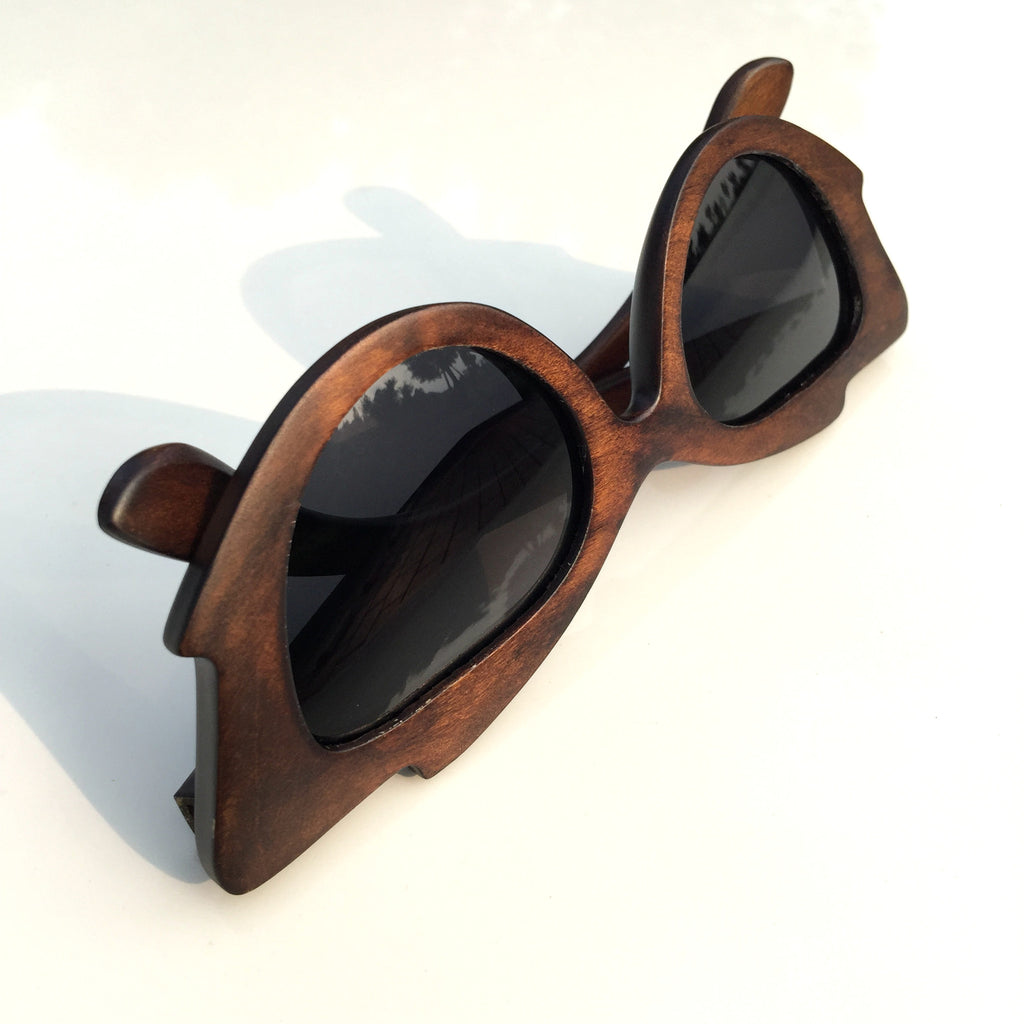 Very Unique Cat Eyes Fashion Wood Sunglasses Shades Sun Glasses - WowAwesomeStuff  - 4