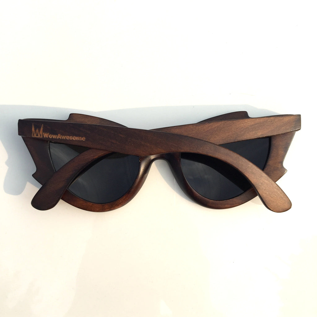 Very Unique Cat Eyes Fashion Wood Sunglasses Shades Sun Glasses - WowAwesomeStuff  - 6