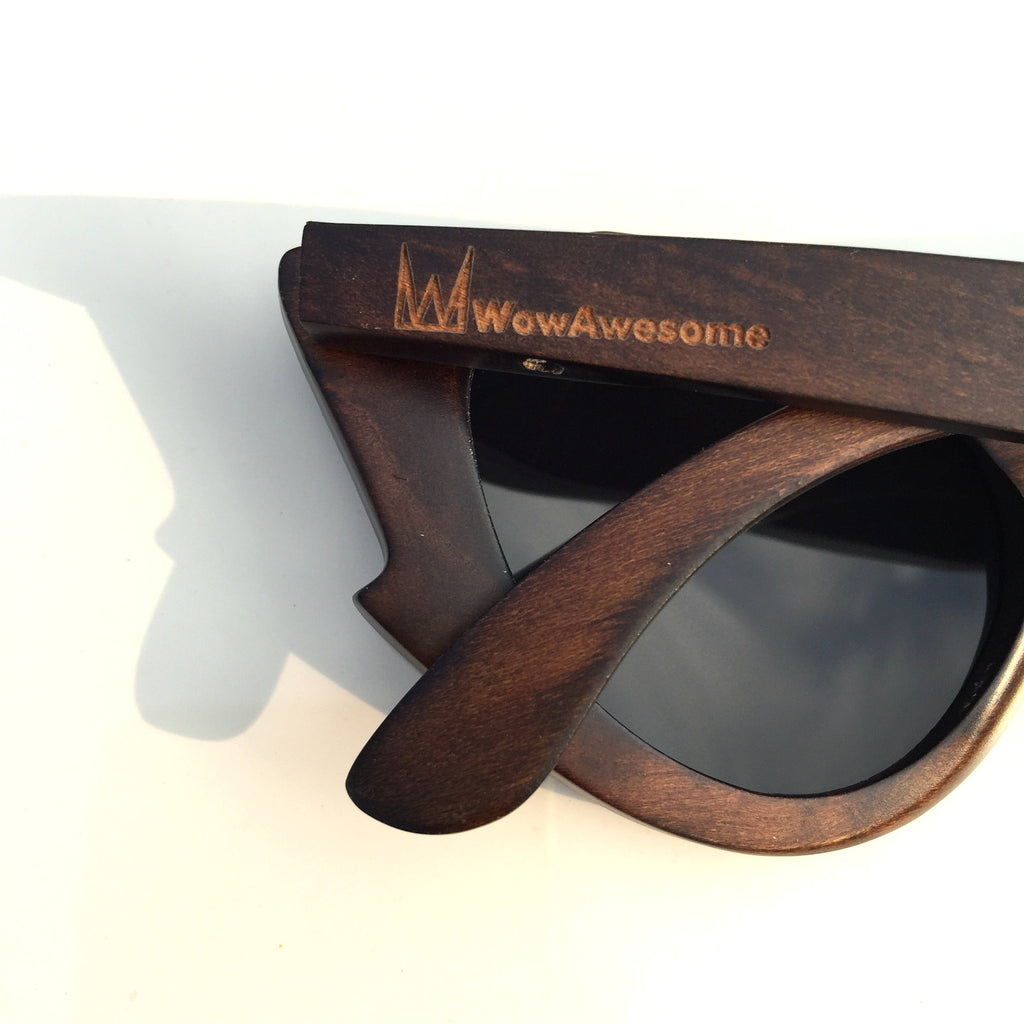Very Unique Cat Eyes Fashion Wood Sunglasses Shades Sun Glasses - WowAwesomeStuff  - 7