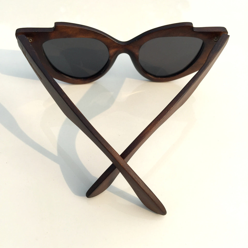 Very Unique Cat Eyes Fashion Wood Sunglasses Shades Sun Glasses - WowAwesomeStuff  - 5