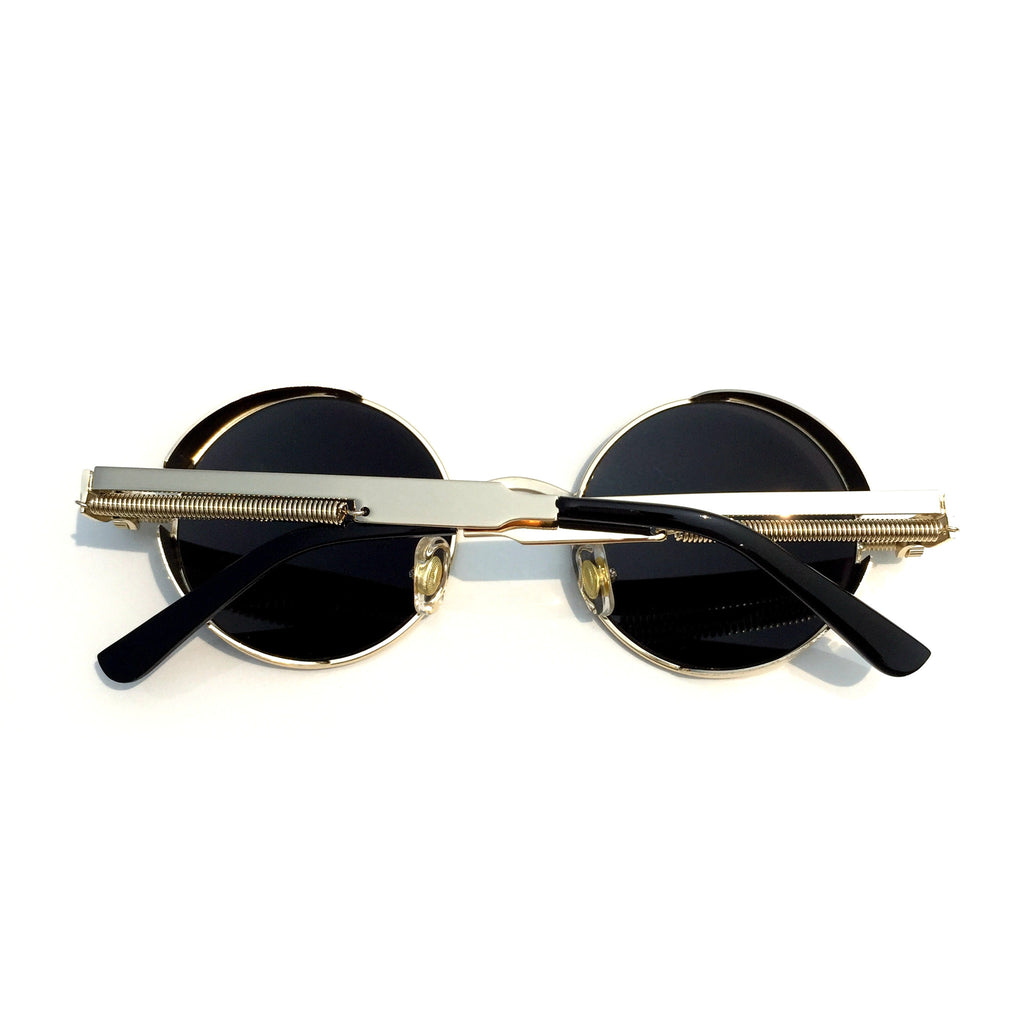 BlueGreen Retro Steampunk Burning Man Round Sunglasses Shades Goggle for Women Men - WowAwesomeStuff  - 3