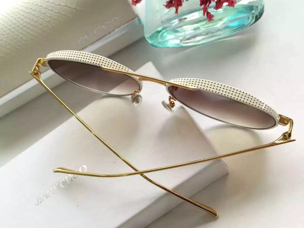 Jimmy Choo ELLO ELLOS56EPL0 Retro Vintage Round Womens Sunglasses for Female Ladies