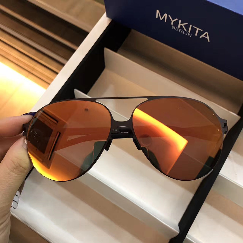 Mykita HANSI BERNHARD WILLHELM Purple Womens Mens Aviator Sunglasses Goggles Shades Sun Glasses