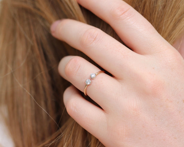R032 Double Dot Ring