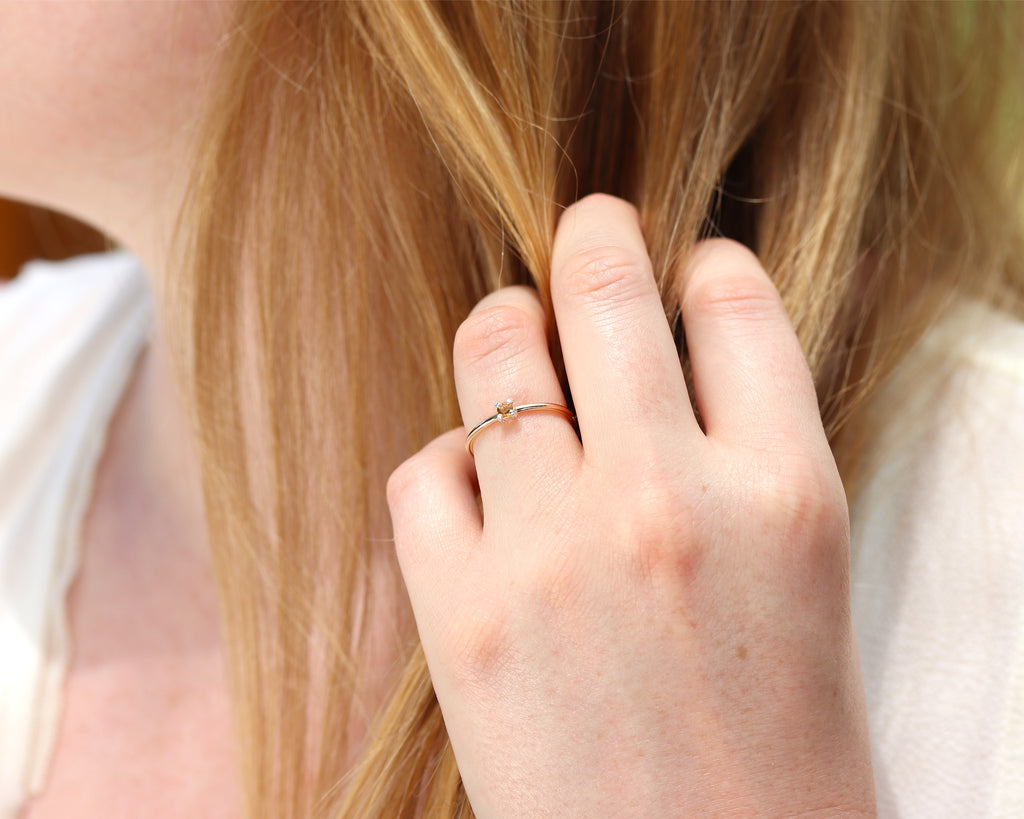 Dainty Citrine Ring