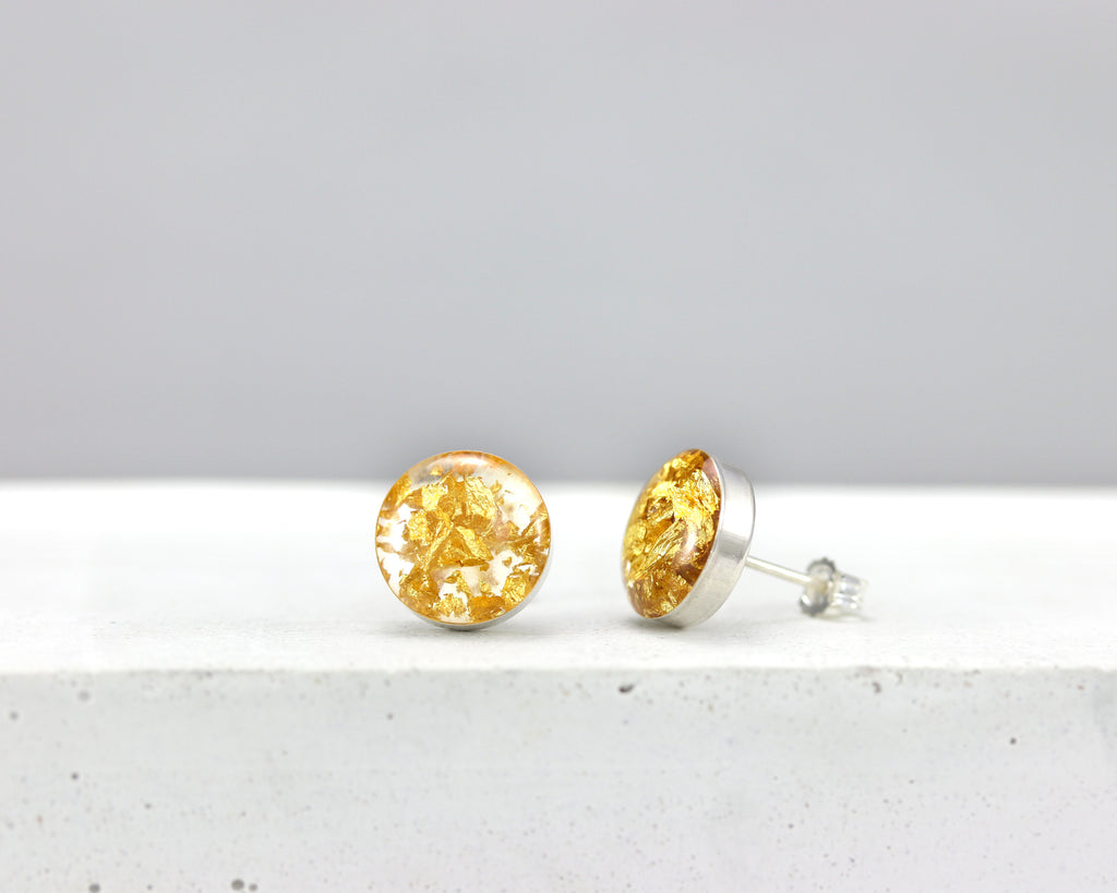Eco Resin Stud Earrings