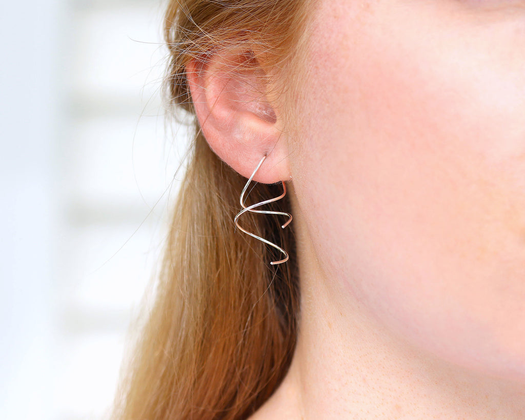E025 Ear Spiral Earrings