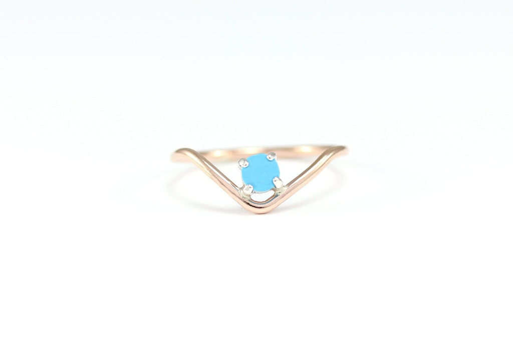 Chevron Gem Ring