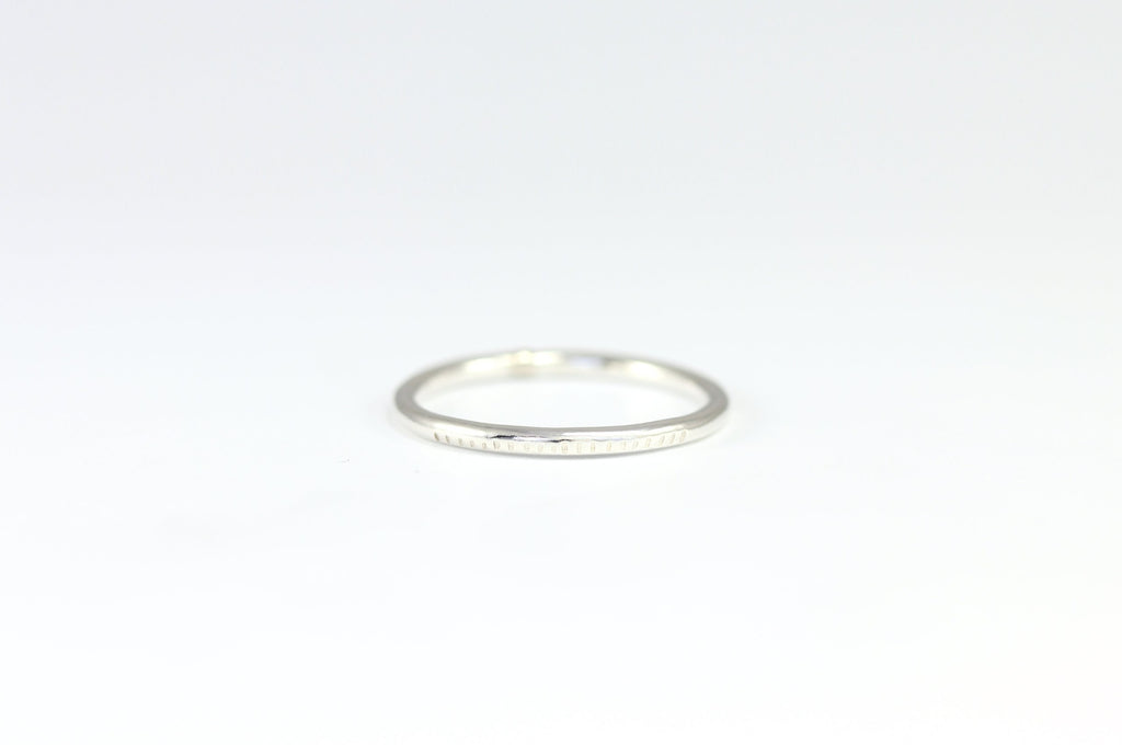 Texture Line Stacking Ring