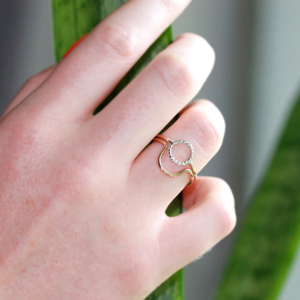 R034 Circle Ring Set of 2