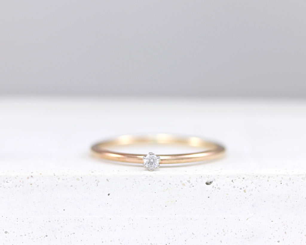 R043 Mini Sparkler Stacking Ring