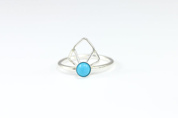 Deco Fan Gem Ring