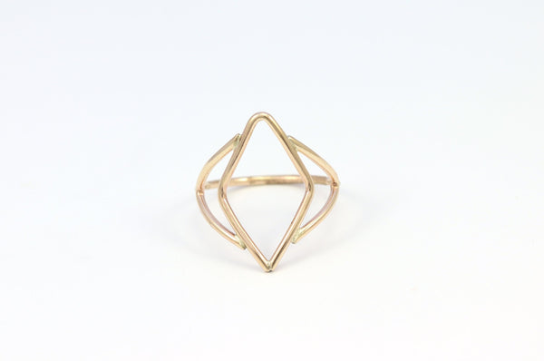 Deco Open Weave Ring
