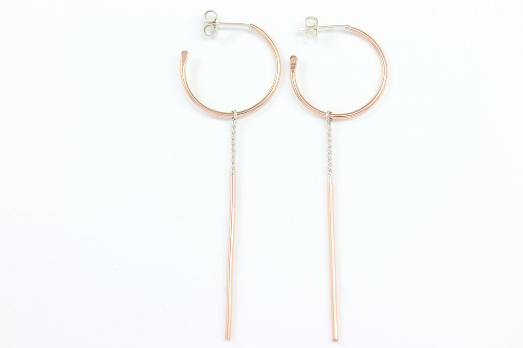 Hoop and Stick Earrings