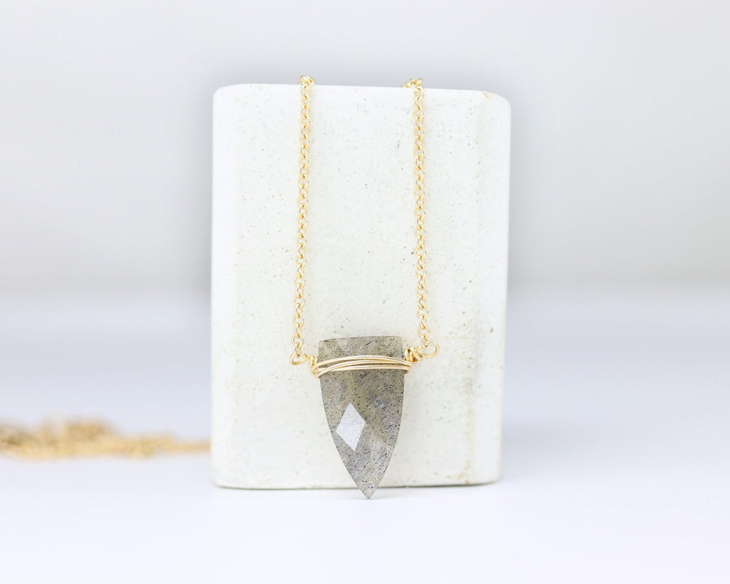 Gemstone Spike Necklace