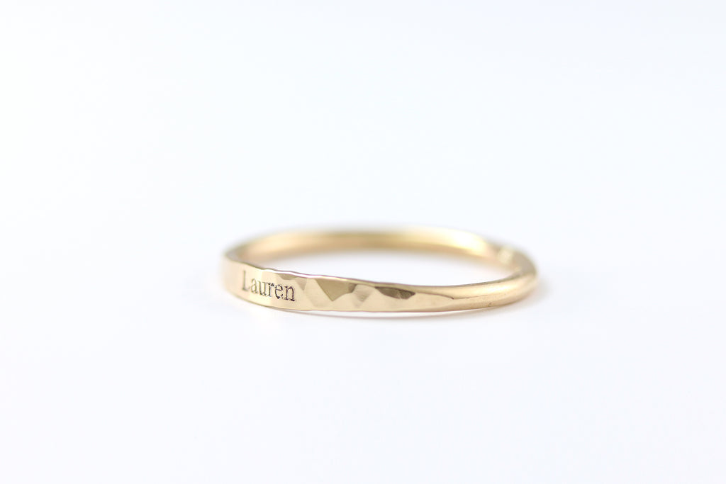 Dainty Name Ring