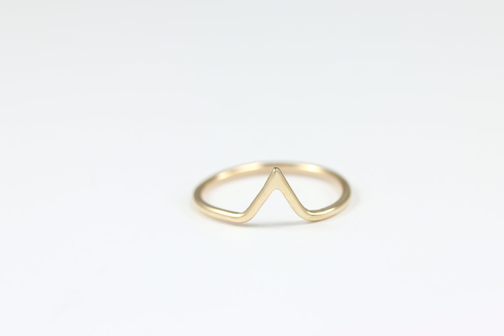 Tiny Peak Stacking Ring