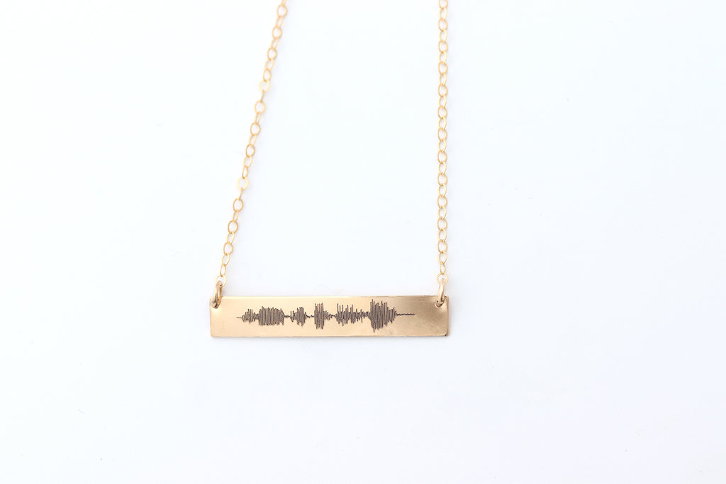 Heartbeat Sound Wave Necklace