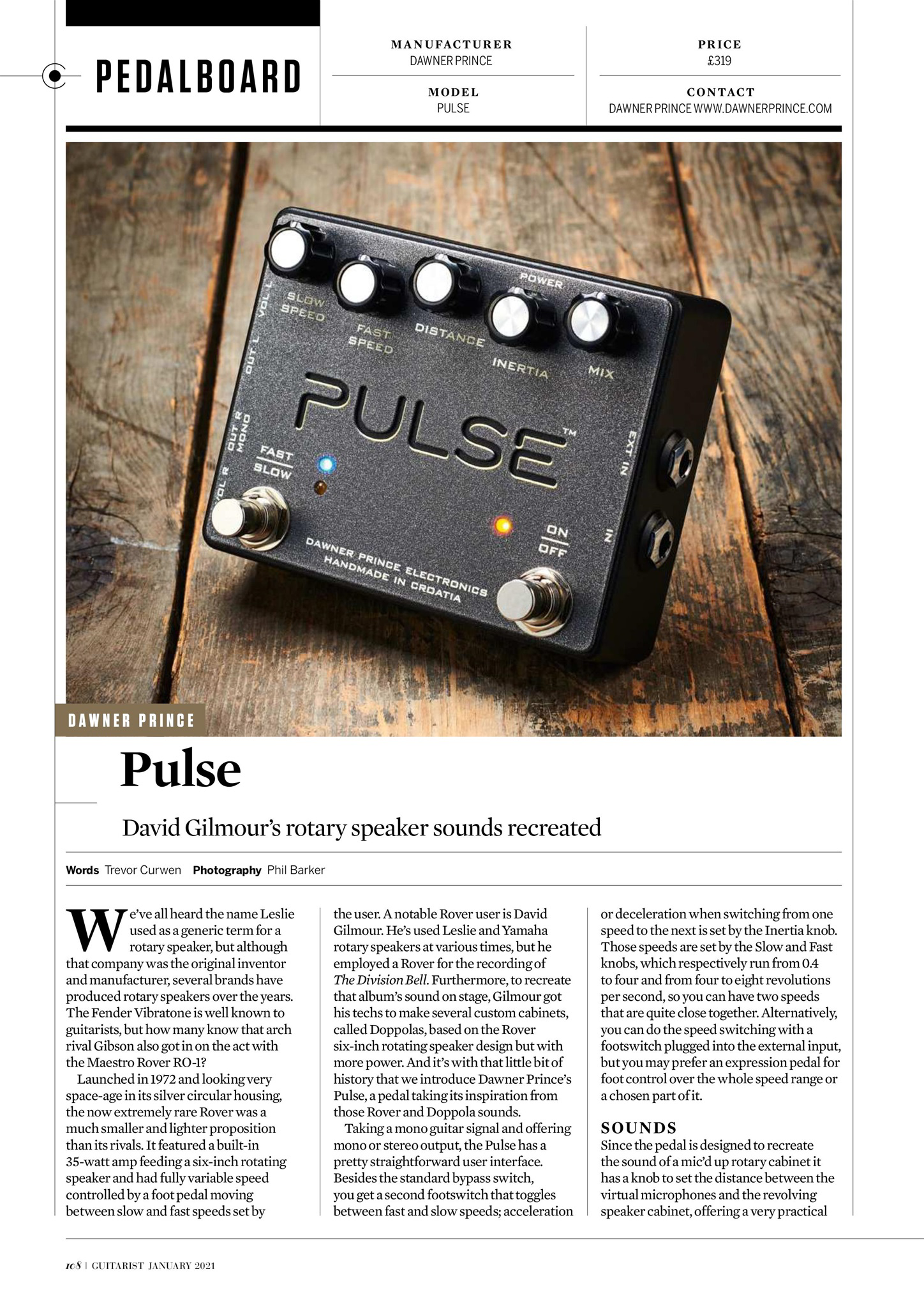 Guitarist Magazine Pulse review 1