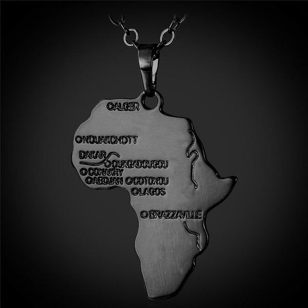 Gun Metal Africa Necklace