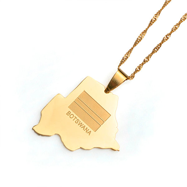 Golden Botswana Necklace