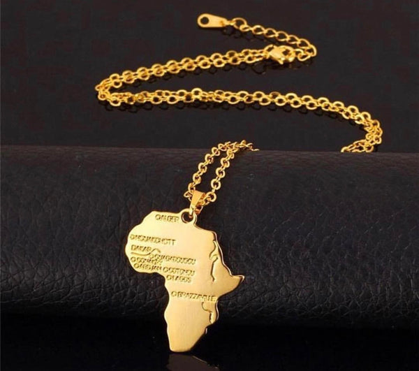 Golden Africa Necklace