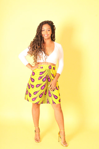 Yellow Ankara Print Skirt