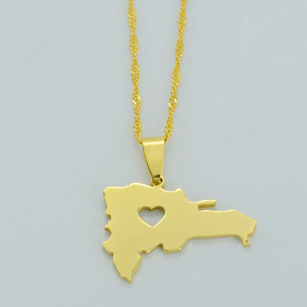 Golden Dominican Republic Necklace