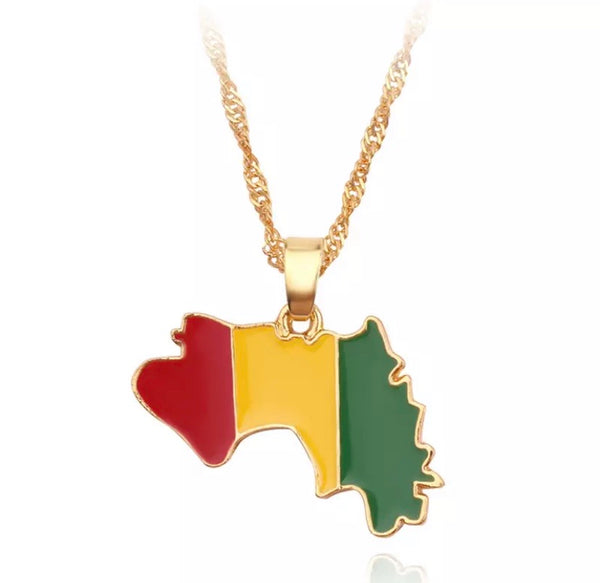 Guinean Flag Necklace