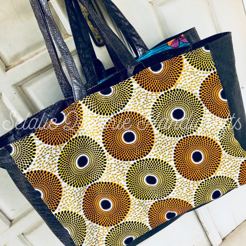 Ofeibea Gold Subra Tote Bag
