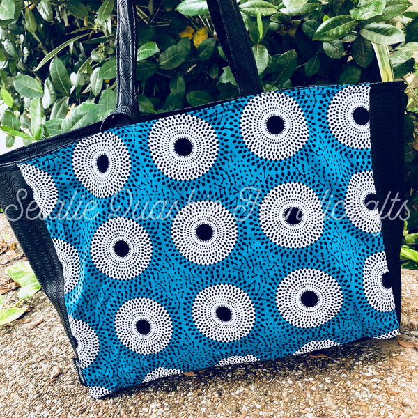 Ofeibea Blue Subra Tote Bag
