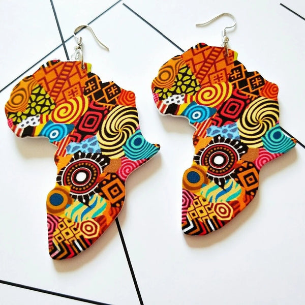 Afro Print Earrings