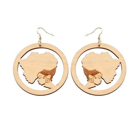 African Continental Earrings