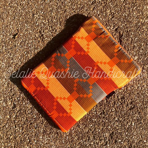 Orange Kente Laptop Sleeve