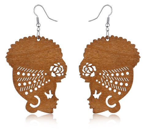 African Goddess Earrings